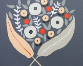 Reserved Listing for jgrove86- Custom Wedding Bouquet Painting on Dark Gray