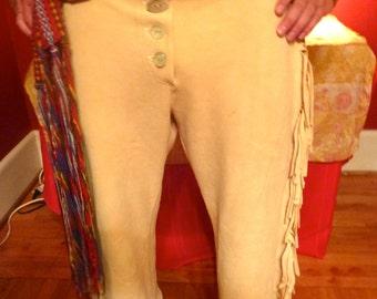 1840s Buckskin Hunting Pants