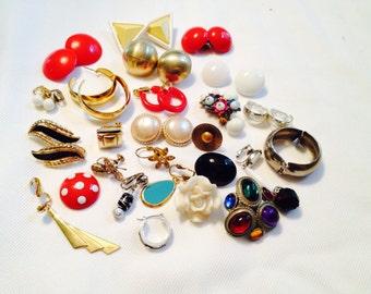 Destash Lot of Vintage Earings, Craft Jewelry, Vintage Earings