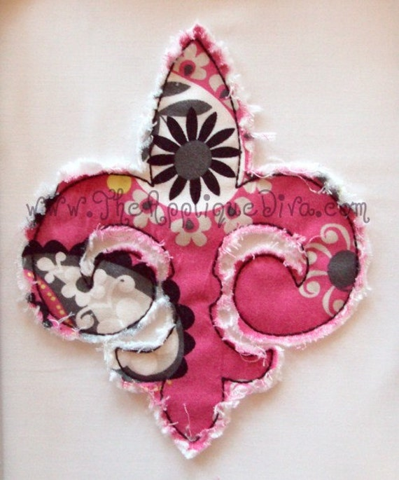 Fleur De Lis Embroidery Design Machine Applique