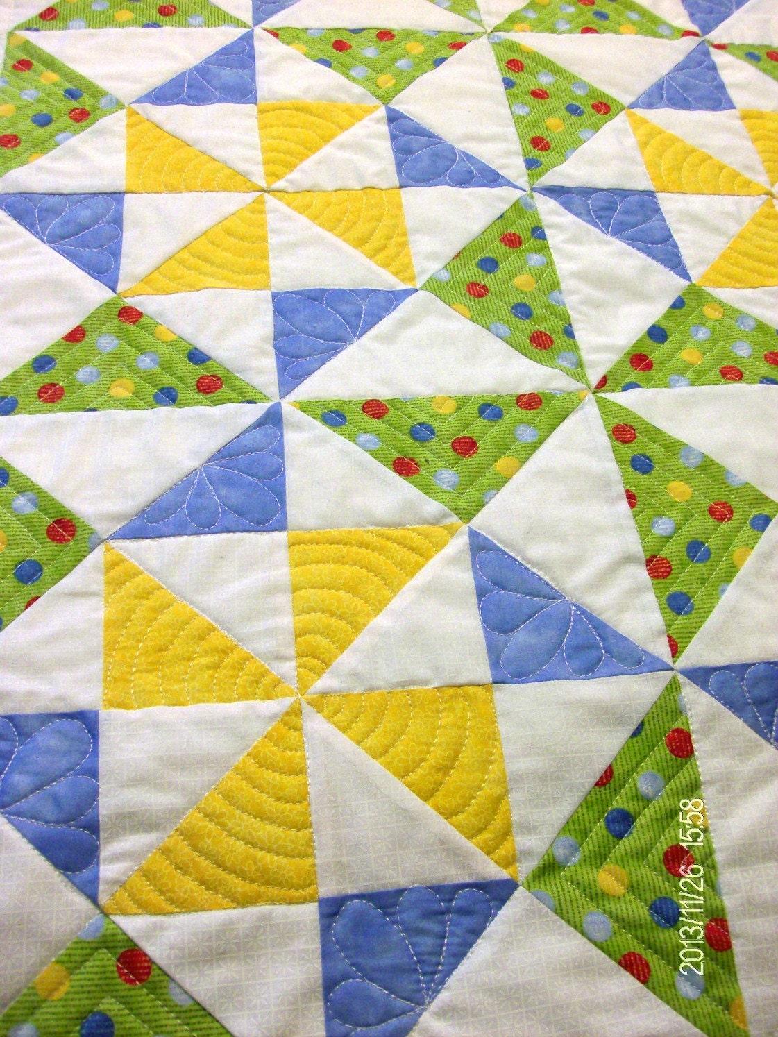 Pinwheel Baby Quilt Peace And Plenty Quilt Block