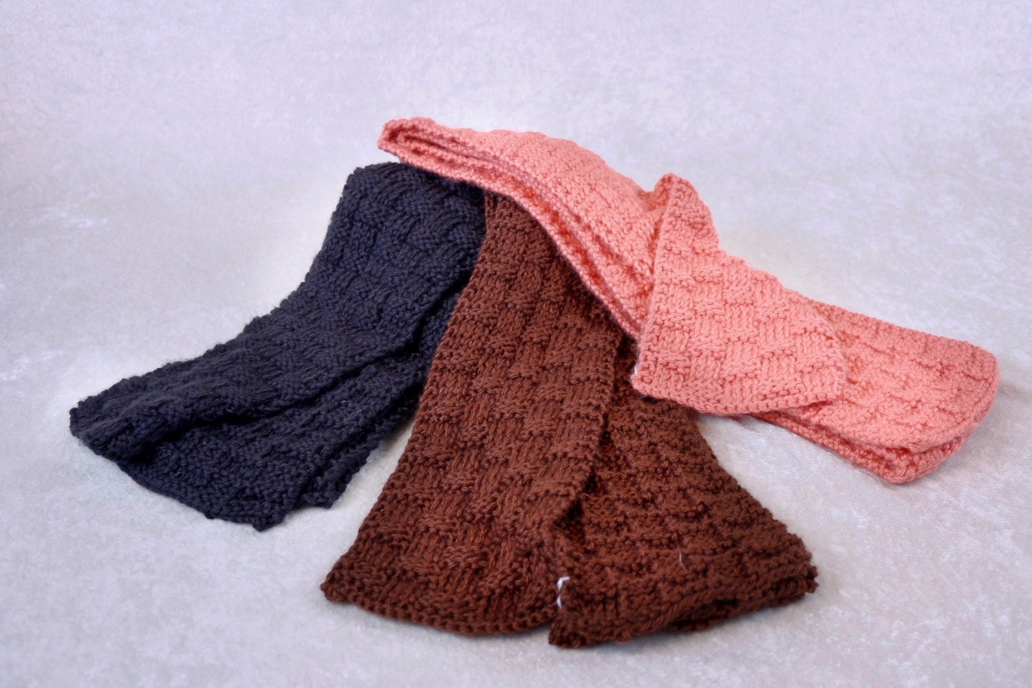 Request a custom order and have something made just for you Handmade Knit Scarves For Sale