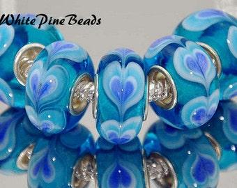Murano Lampwork Glass Bead  European Style Charm Bracelets  European Charm Bracelet
