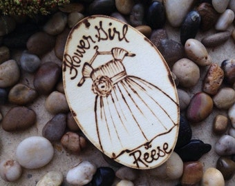 Ring Bearer or Flower Girl Gift Tags Ornaments Personalized Wedding Gifts for Bridal Party Thank You Gifts