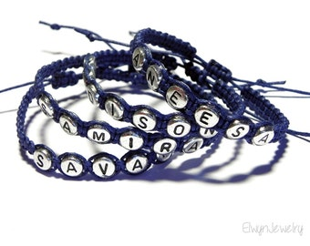 Navy Blue Bracelet, Boy Bracelet, Boy Jewelry, Boy Gift, Kid Bracelet, Personalized Bracelet, Name Bracelet, Child Bracelet, Kids Jewelry