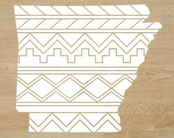 Aztec/Tribal Arkansas Decal