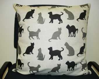 Cat pillow cover - Linen Pillow - Cushion Linen Cover - Decorative Linen Pillow - Custom size
