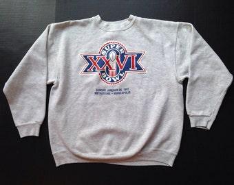 Vintage 1992 Super Bowl XXVI sweatshirt, XL