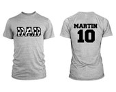 Soccer Dad Men Custom T-Shirt With Personalized Child's Name on Back