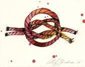 True Lovers Sailors Knot-archival print