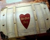 Wedding Card Box Trunk Love Letter Ceremony Anniversary Rustic Shabby Chic Fairytale Vintage Wedding Custom