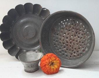 Set of Two Vintage Kitchen Tins