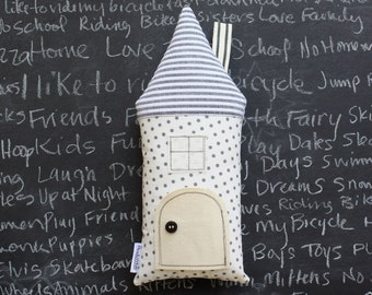 Tooth Fairy Pillow House Cottage, Children, Stuffed Toy, Keepsake, Gift For Child, Special Occasion