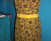 Ginny Apron -Sunflowers  - Ready to ship