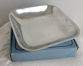 Vintage Nambé 10 Inch Square Metal Serving Plate 572A