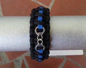 Fallen Officer Tribute Paracord Bracelet w/Handcuff Charm