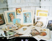 Vintage illustration prints destash paper ephemera childhood children fairytale