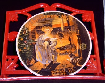 """Plate Norman Rockwell """"Somebody's Up There"""" Christmas 1979 Collector Plate # 1916B"""