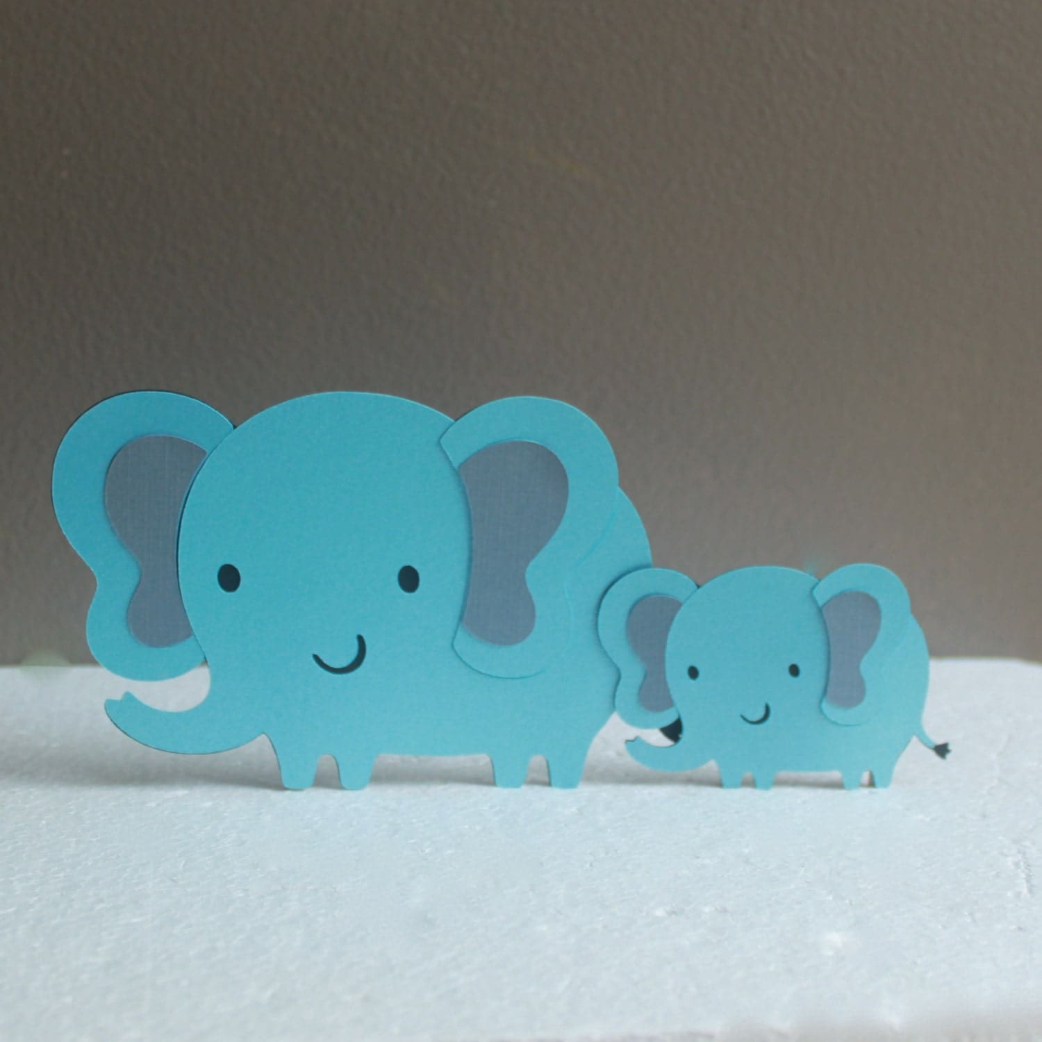 mom and baby elephant baby shower cake topper elephant baby