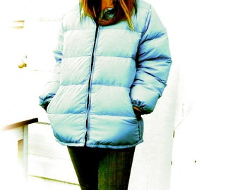 Edith's coat. vintage handmade from kit Frostline down parka. M/L