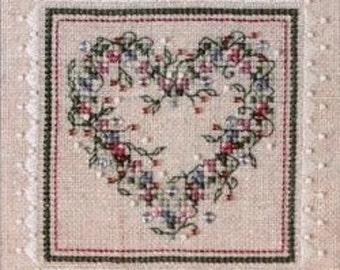 "Sweetheart Tree ""Potpourri Heart"" Counted Cross Stitch Kit"