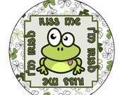 Kiss Me I'm Irish Stickers, St. Patrickk's Day Stickers, INSTANT DOWNLOAD