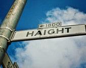 Haight Street print, Haight canvas, San Francisco print, San Francisco canvas, Bay area art, Hippie art, street sign photo