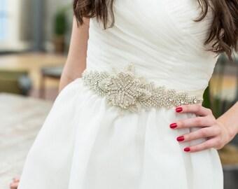 Bridal Sash, Wedding Dress Belt, rhinestone, crystal, bling - Great addition to your wedding dress