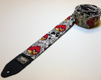 CLEARANCE SALE 38% off Phone app-themed handmade double padded guitar strap - This is NOT a licensed product