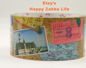 Translucent Wide Sticker Tape - Encounter on Travel - 27 yards