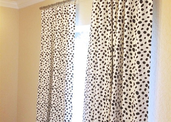 ... 96, 108, 120 Lengths. Black Dots Window Treatments. Drapery Curtains
