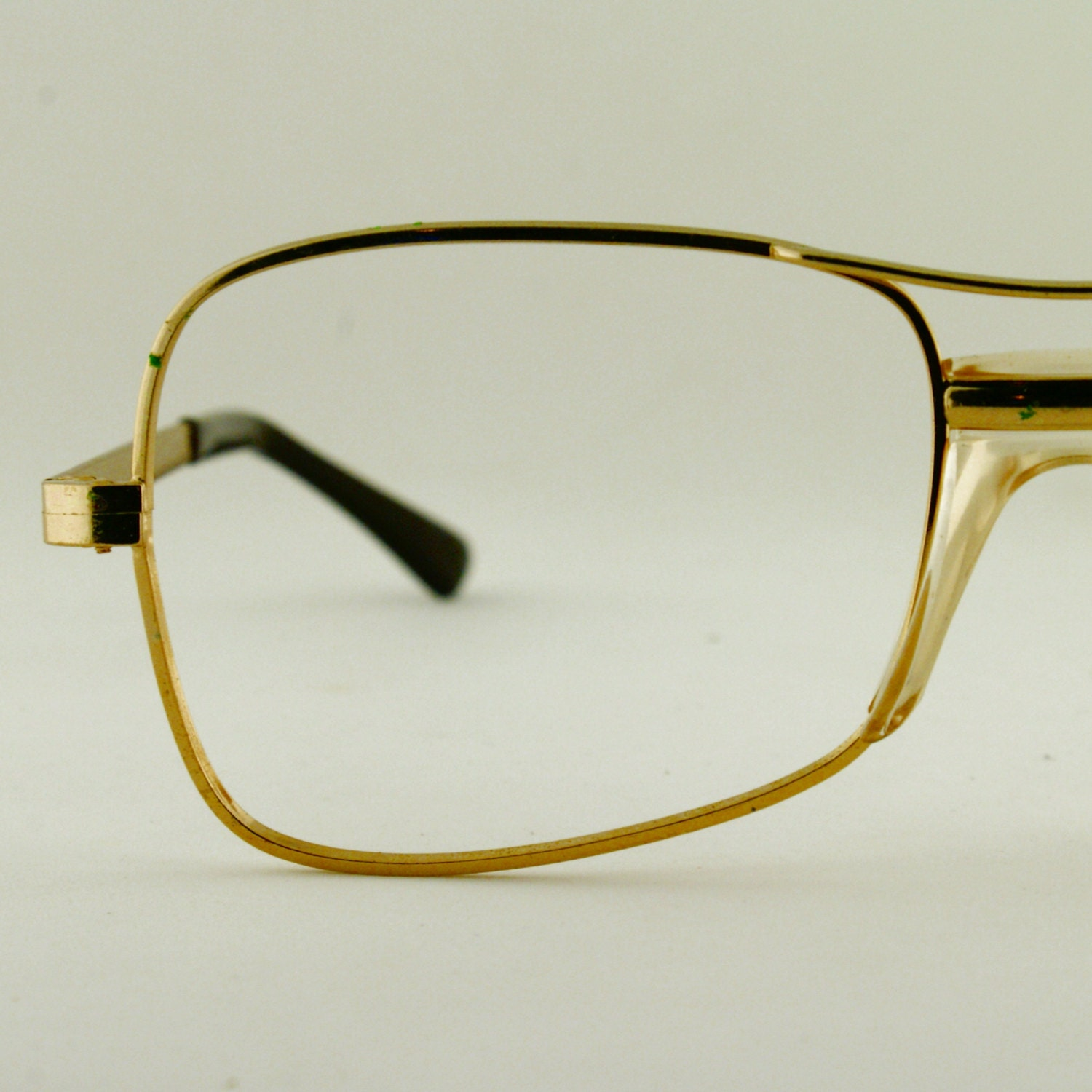 Eyeglass Frames Gold : Vintage Mens Gold Aviator Eyeglass COTTET Frames France