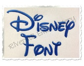 Disney Machine Embroidery Font Monogram Alphabet - 3 Sizes