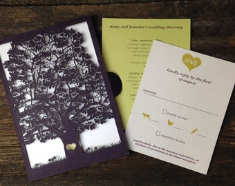 "Laser cut booklet - ""Shabby Chic Tree"""
