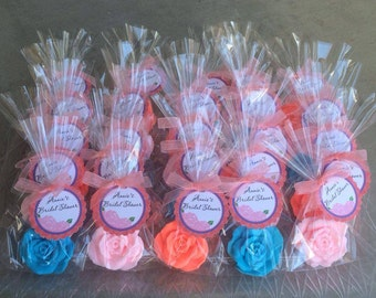 10 ROSE SOAPS {Favors} - Bridal Shower Favor, Wedding Favor, Valentine's Day, Mothers Day, Perfect Gift