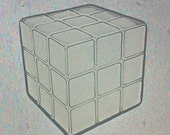 Flexible Resin Mold Rubiks Cube Themed Mould