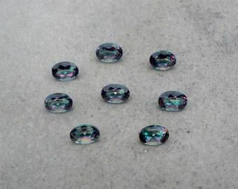 8 Rainbow mystic topaz oval gems 6 x 4mm each