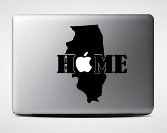 Illinois State Home / Macbook Sticker / Laptop Decal