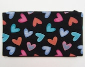 Hearts Panel to Zip onto Bag