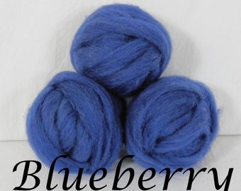 Wool roving in Blueberry, 1 ounce wool roving for needle felting, wet felting, spinning, 1 oz wool roving, colored wool sampler