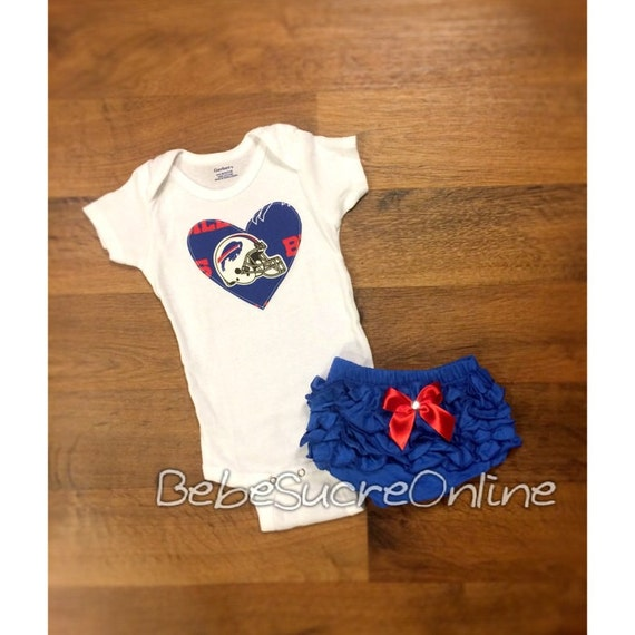 Buffalo Bills Girls Outfit by BebeSucreOnline on Etsy