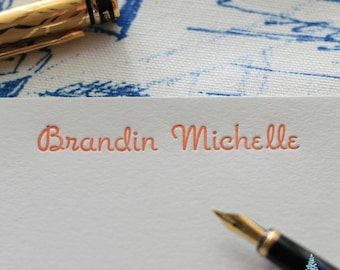 A2 - Romany Signature Collection - Personalized Letterpress Note Cards - Boxed Set of 24