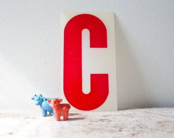 Marquee Letter C - Red Marquee Plastic Letter C Vintage Letter C Vintage Marquee Number