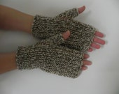 Wool yarn, Arm warmers, fingerless gloves, arm cuffs,Natural color