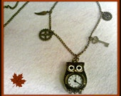 Steampunk Owl Pocketwatch Necklace