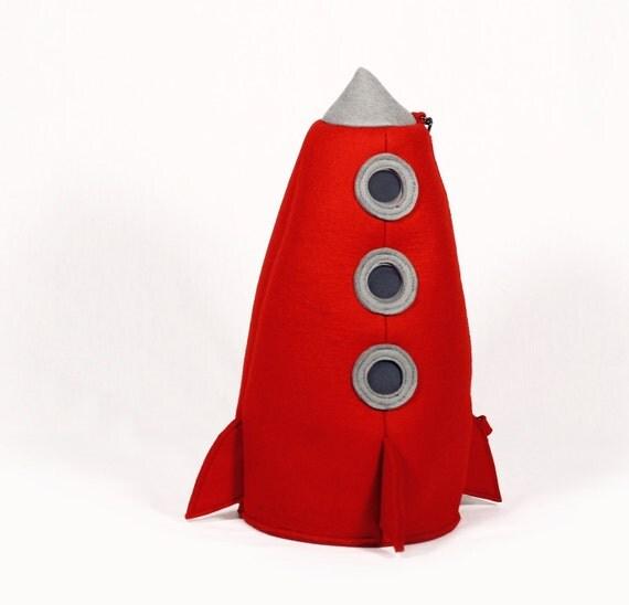 Red Felt Rocket Bag