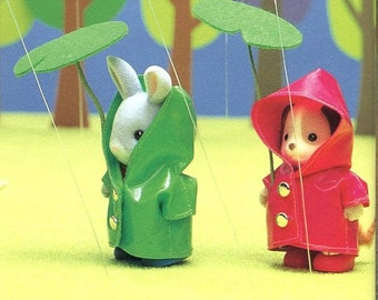 Sylvanian Families Raincoat and Leaf Umbrella Sewing Pattern PDF