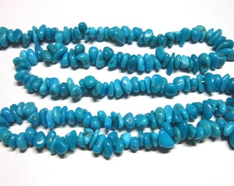 "Sale Sleeping Beauty turquoise nuggets 5-7mm 1.5"" strand"