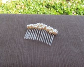 Swarovski Pearl Hair Comb Fancy Pearl Cluster Choose Your Color