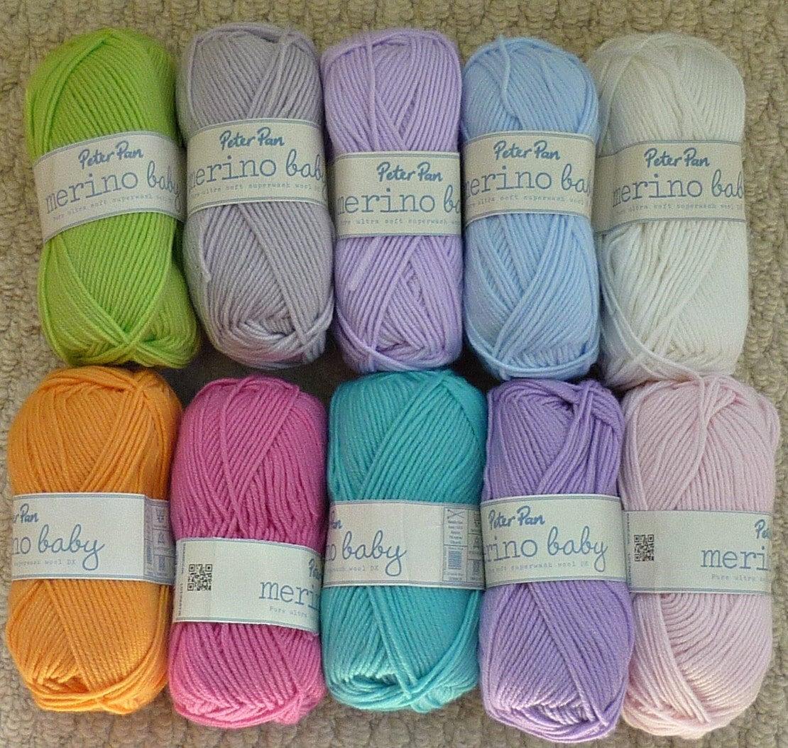 Knitting Wool/Yarn Wendy 100% Merino Baby Wool Double Knitting